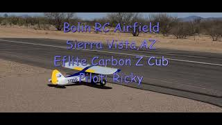 Eflite Carbon Z Cub Chased by a Racing Drone(Ground View)