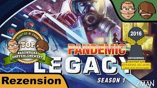 Pandemic Legacy Season 1 (nominiert zum Kennerspiel des Jahres 2016) - Brettspiel - Review