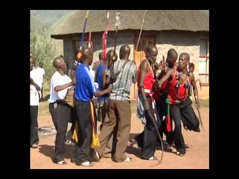 Traditional Lesotho Singing and Dancing done