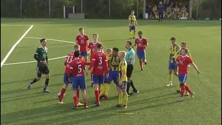 Referee situation: Mass confrontation - 3 yellow cards