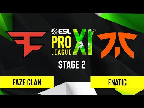 CS:GO - FaZe Clan vs. Fnatic [Mirage] Map 1 - ESL Pro League Season 11 - Stage 2