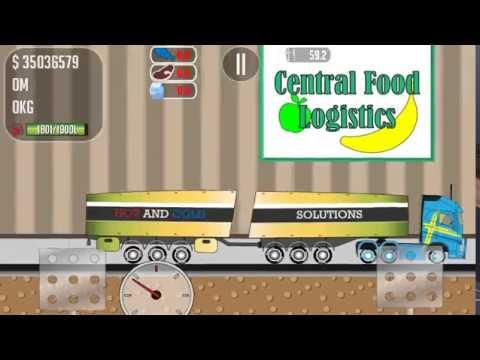 Trucker Joe is transporting food to the supermarket