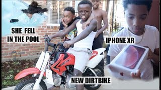 I BOUGHT THE KID'S A DIRTBIKE & SURPRISED NEW KID WITH IPHONE XR