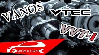 Co to są zmienne fazy rozrządu i jak działają VTEC VANOS VVT-I
