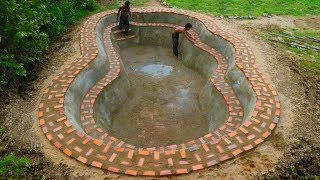 Build Brick Swimming Pool For Summer (Part 1 )