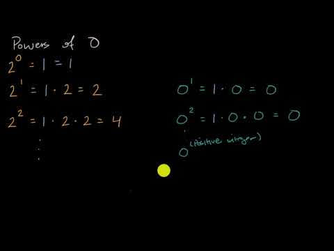 Powers Of Zero Video Khan Academy