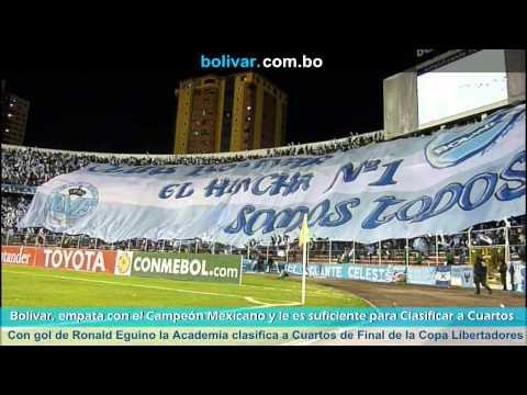 """BOLIVAR 1 - León 1: Octavos de Final - Copa Libertadores 2014"" Barra: La Vieja Escuela • Club: Bolívar"
