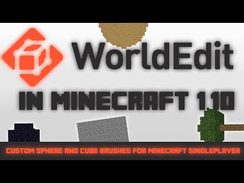 Extrêmement Worldedit in Minecraft 1.9-1.11 - Custom Worldedit brushes  US83