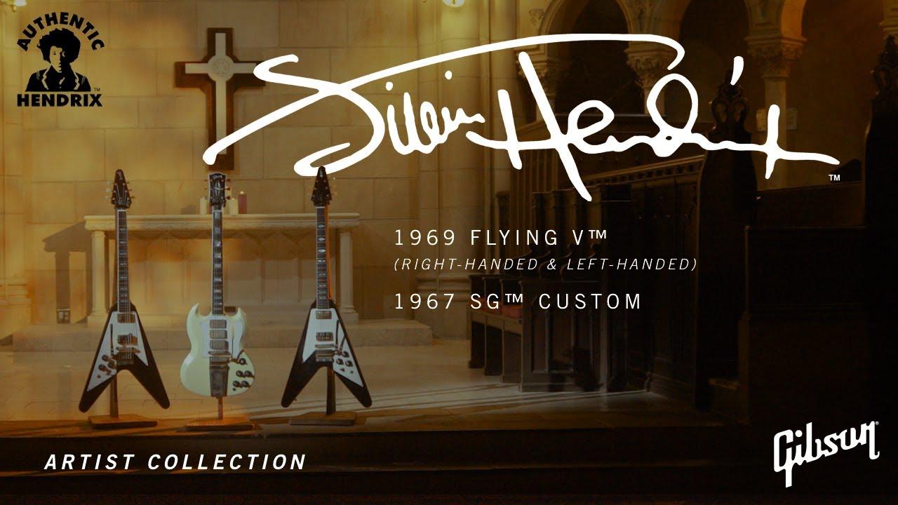 Jimi Hendrix 1969 Flying V (Left and Right Handed) and 1967 SG Custom