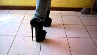 My new peep toe extreme heel ankle boots 2