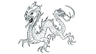 How To Draw A Japanese Dragon