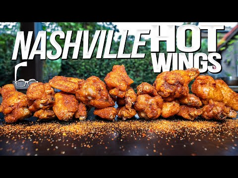NASHVILLE HOT WINGS (SMOKED THEN DEEP FRIED!)