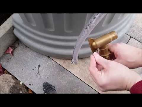 Füllstandsanzeige/Restentleerung für Regenwassertank einbauen. Säulentank