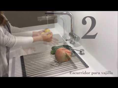 Roll up accesorio escurridor salva encimeras para tu cocina