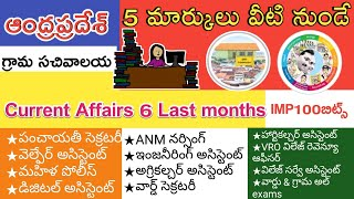 Gk Bits in Telugu current affairs Bits in Telugu    Ap grama sachivalaya jobs