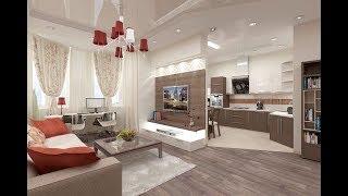 Дизайн Кухни Гостиной 30 кв м - 2018 / Kitchen Design Living room 30 sq m / Küche Design Wohnzimmer