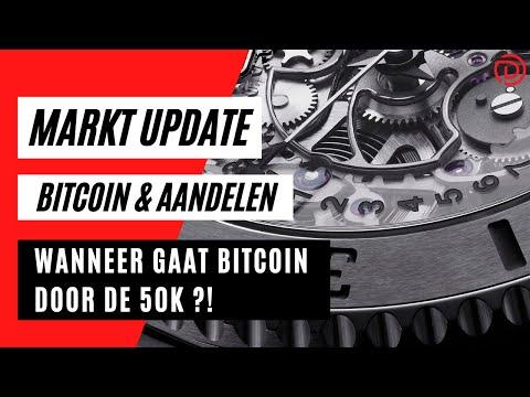Wanneer Gaat Bitcoin Door De 50K ?! Bitcoin richting 50K ? | Koers Update Bitcoin & Aandelen !