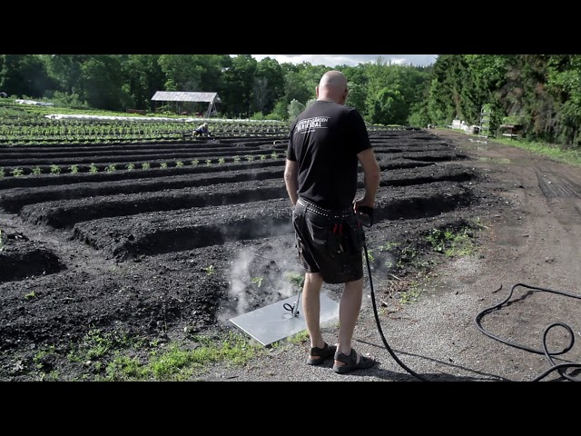 Tecnovap fjerner ugress med damp