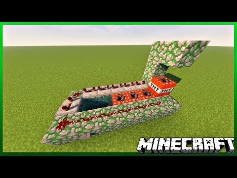 How To Build a TNT Cannon in Minecraft! 1.12+ (2018)