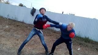 Жёсткая драка в Казахстане