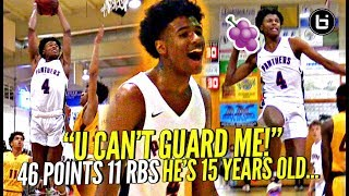 AMERICA WE HAVE A PROBLEM! 15 Y/O Jalen Green SPAZZES OUT w/ 46 POINTS Against TOUGH Cali Team!