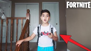 My Little Brother Is Allowed To Skip School, If He Gets A Victory Royale In FORTNITE!
