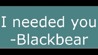 Blackbear -
