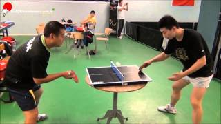 Ma Long Vs. Liu Guoliang na Mini-mini Mesa de Tênis de Mesa - STIGA TABLE TENNIS