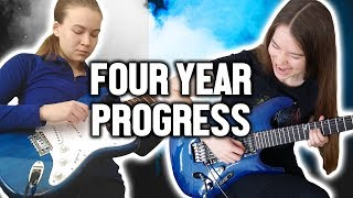 Four Years Playing The Electric Guitar - Month By Month Progress