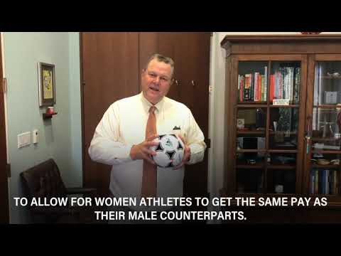 Tester Joins Effort to Ensure Equal Pay for Female Athletes