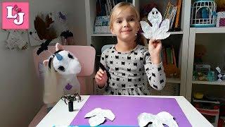 ПРИВИДЕНИЯ из осенних листьев Поделки с детьми Хэллоуин DIY Поделки из листьев