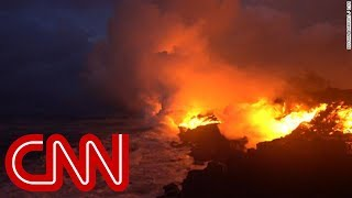 See lava from Hawaii volcano reach the ocean - Video Youtube