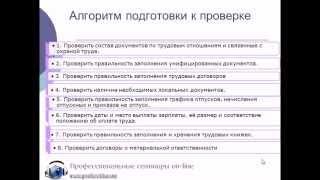 Алгоритм подготовки к проверке трудовой инспекции