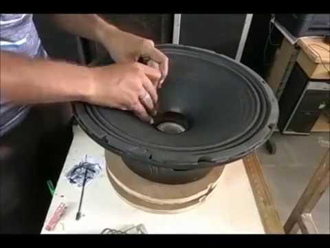 "How to recone a speaker- ,speaker repair 300 WATTS 76.3mm voice coil- 15"" inch speaker India Hindi"