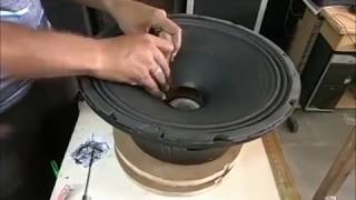 How to recone a speaker- ,speaker repair 300 WATTS 76.3mm voice coil- 15