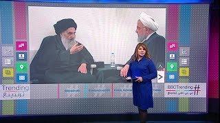 روحاني يزور مرقد الإمام علي ومنزل الخميني ويلتقي السيستاني في النجف
