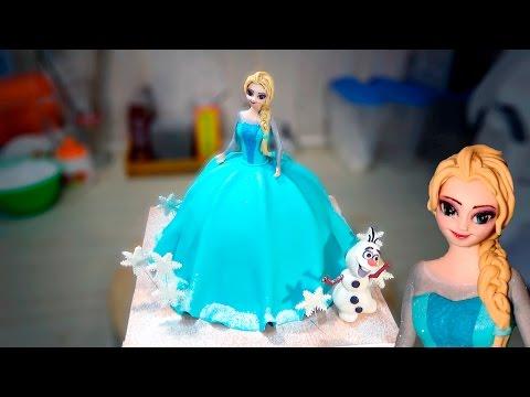 Как создать 3д торт в виде куклы Эльзы