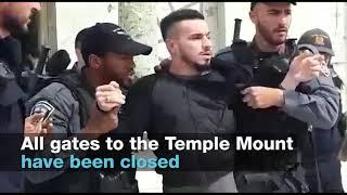 Na policejní stanoviště na Chrámové hoře byla vhozena zápalná bomba