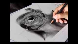 Drawing Pencil Hyperrealism Un Attimo Pencil on Paper Silvia Pagano Art