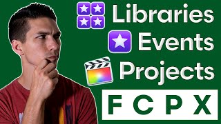 How to Organize Footage with Libraries, Events, & Projects in Final Cut Pro X for EFFICIENT Editing