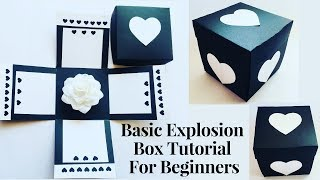 Explosion Box Tutorial For Beginners   DIY Explosion Box For Birthday / Anniversary   Easy Tutorial
