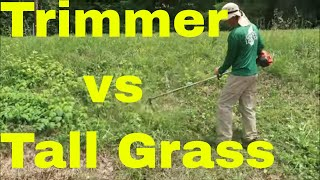 How to Cut Tall Grass with a String Trimmer aka Weedeater, Weed Wacker