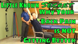 Little Known Secret Why Your Low Back Pain is NOT Getting Better