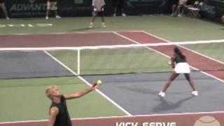 Comparing Tennis Serves   Flat Serve Vs. Kick Serve