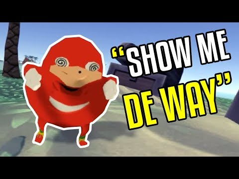 Invading Ugandan Knuckles Island - VR CHAT - Funny Moments