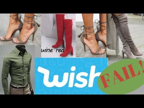 WISH TRY-ON HAUL: WOMEN'S SHOES & MEN'S SHIRT (HUGE FAIL!)