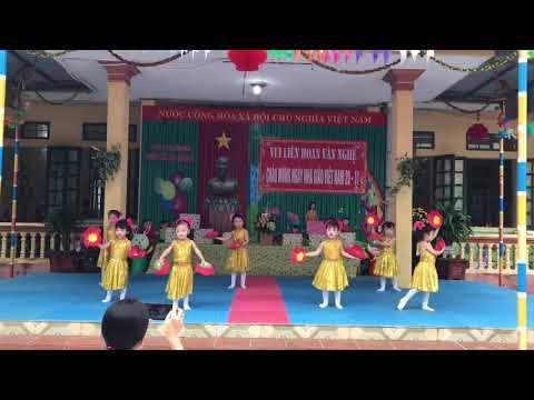 Văn nghệ chào mừng ngày nhà giáo VN 20/11: Bài hát múa Bông hồng tặng cô lớp 3 - 4 tuổi A