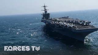 When An Aircraft Carrier Goes To War | Forces TV