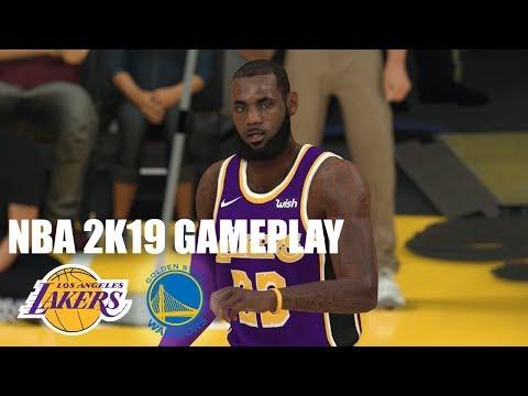 NBA 2K19 Xbox One X Gameplay: Lakers vs. Warriors