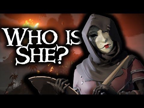 THE MASKED STRANGER WHO IS SHE? // SEA OF THIEVES - Who is this lady?